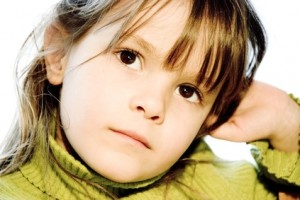 profil, enfant,portrait, fille,couleurs,vives,chev